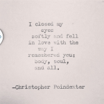 chrisopher poindexter quote